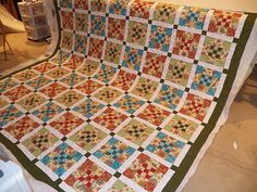 Jacobean panto by Darling Jill Quilts, via Flickr 9 patch variation