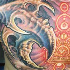 Photo of Biomechanical tattoo by Guy Aitchison