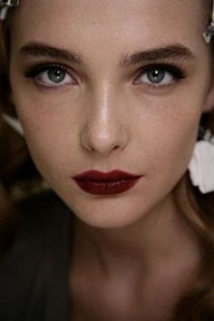 Dark eyes, dark lips.  #beauty #lipcolorsbold