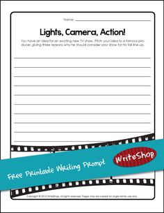 Do your kids want to create a TV show? Using this free printable writing prompt, have them pitch their idea to a famous producer!