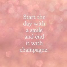"""""""Sounds like the perfect #Friday plan to us! Happy almost weekend Gorgeous! #smile #champagne #TGIF (#regram @blushington)"""""""