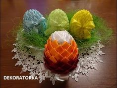 PISANKA ZE WSTĄŻEK - jak zrobić Egg Art, Egg Decorating, Eggs, Decoration, Youtube, Diy, Scrappy Quilts, Home, Manualidades