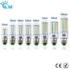 LED lamp Bulb E27 E14 Candle Light Bombillas 220V SMD 5730 Home Decoration Lamp for Chandelier Spotlight 24 36 48 56 69 106LEDs  Price: 4.55 USD