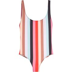 Solid & Striped The Anne Marie Swimsuit (9.505 RUB) ❤ liked on Polyvore featuring swimwear, one-piece swimsuits, stripes, swimsuit swimwear, beach wear, swimming costume and striped one piece swimsuit