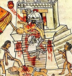 HUMAN SACRIFICE: Selection -- from Mexico City by Nick Caistor. When Hernando Cortez and his troops arrived at Tenochtitlán (current day Mexico City) they witnessed the Mexica [rulers of the Aztec empire] performing the ritual of. Aztec Religion, Culture Art, Aztec Culture, Aztec History, Mayan History, Aztec Temple, Islamic Art, The Cult