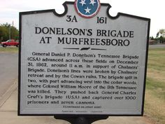Donelson- of troop moments of Confederate General Donelson's Tennessee Brigade
