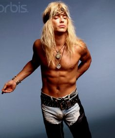 Bret Michaels - Poison  So obvious that he is going commando in this picture!! And I like it!!