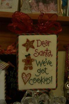 Dear Santa, we've got cookies!