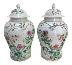 Chinese Ginger Jars - A Pair on Chairish.com