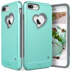 iPhone 7 Plus Case, Vena [vLove][Heart-Shape | Dual Layer Protection] Hybrid Bum #Vena
