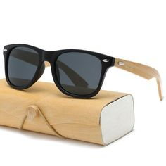 7508e54d64f Retro Wood Sunglasses Men Bamboo Brand Design Sport Goggles Gold Mirror