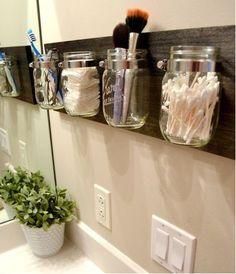 Hand Crafted Mason Jar Organizer by BuGaBeArCrAfTS on Etsy, $34.99