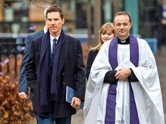 Benedict Cumberbatch delivered a very special poem written by poet laureate Carol Ann Duffy Thursday for the reburial of his distant cousin, King Richard III.