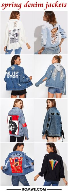 spring denim jackets from romwe.com