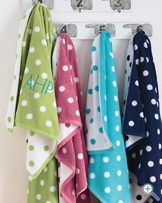Garnet Hill Dot to Dot Towels