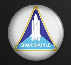 NASA SPACE SHUTTLE LOGO BUTTON OR MAGNET ASTRONAUT COLUMBIA MISSION PATCH USA  $2.50