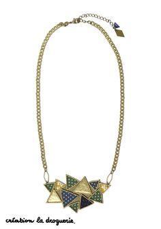 Comment utiliser ses chutes de tissus ? En imaginant un joli collier ! #ladroguerie #bijou #collier