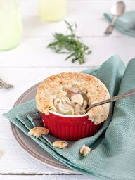 Best Herbed Chicken Pot Pie With Bacon Recipe on Pinterest