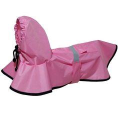 Capa de Chuva Rosa Futon Dog & Home - MeuAmigoPet.com.br #petshop #cachorro #cão #meuamigopet