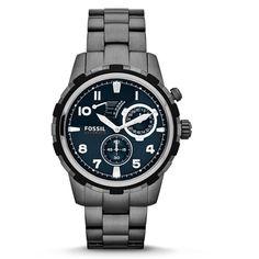Fossil Dean Automatic Smoke Men's Watch - Gray (EM117705) | Emporium.com