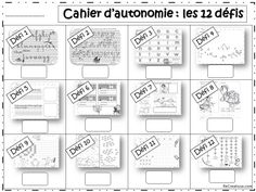 AUTONOMY tools to manage free time and differentiate ReCreatisse Teaching Kids, Kids Learning, School Organisation, Back To School Hacks, French Classroom, Cycle 3, Kindergarten Lesson Plans, School Closures, Learning Italian