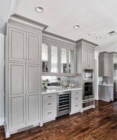 4 Motivated Clever Ideas: Farmhouse Kitchen Remodel Fixer Upper old kitchen remodel ceilings.Kitchen Remodel Plans Basements kitchen remodel grey and white.Very Small Kitchen Remodel. Grey Kitchen Designs, Kitchen Pantry Design, Home Decor Kitchen, Interior Design Kitchen, New Kitchen, Kitchen Ideas, Kitchen Modern, Awesome Kitchen, Modern Interior