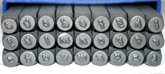 Modern Font Alphabet Metal Stamp SetSteel Stamps by TheSupplyGuy, $34.99