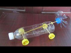 Hoe maak je een rubberen band aangedreven auto te maken | met plastic fles - YouTube