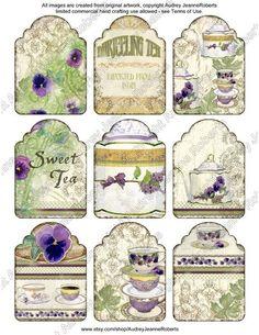 Digital Collage Sheet Sweet Tea Original by AudreyJeanneRoberts, $4.95