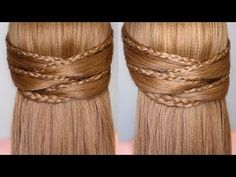 Braided Half Up Half Down Prom Hairstyle - YouTube