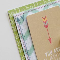 Scrap Happiness awesome use of journal card/printable on a card Tegan Skwiat