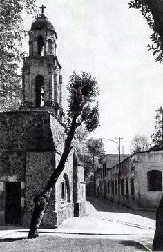 Barrio de Chimalistac, al sur de la Ciudad de México. Foto probablemente de principios del siglo XX.