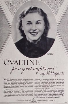 Ovaltine. For A Good Nights Rest