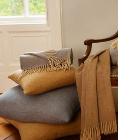 Shop new-season throws and home accessories, to make your space extra cosy before Christmas. Our throws are designed and woven in Donegal, Ireland, made with wool. Donegal, Your Space, Cosy, Home Accessories, Tweed, Ireland, Cushions, Interiors, Throw Pillows