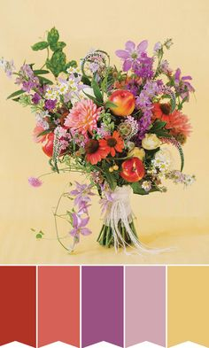 Summer bridal bouquet inspiration | www.onefabday.com | #Flowers #Bride #Wedding