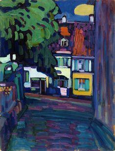 Murnau, casas en el Obermarkt. Wassily Kandinsky