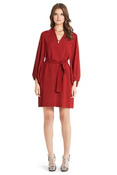 Tanyana Silk Shirt Dress In Vintage Rose by DVF