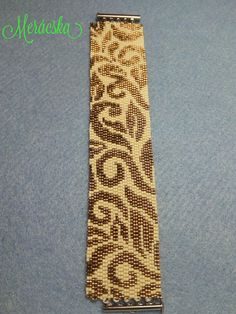 Kiki's bead art leveles karkötő mintája Zsuzsinak névnapjára