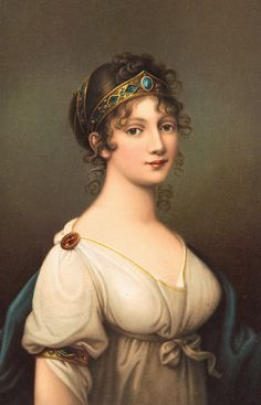 Duchess Louise of Mecklenburg-Strelitz was Queen Consort of Prussia as the wife of King Frederick William III. (Portrait by Josef Grassi) Zar Alexander, Friedrich Wilhelm Iv, Frederick William, King William, Images Vintage, Vintage Artwork, Regency Dress, Regency Era, Painted Ladies