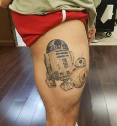 and by Matt McKelvey (Wyld Chyld Pittsburgh PA) R2d2 Tattoo, Robot Tattoo, Star Wars Tattoo, Star Tattoos, I Tattoo, Sleeve Tattoos, Awesome Tattoos, Cool Tattoos, Tatoos