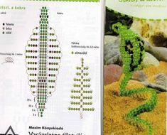 Scheme weave beaded snake