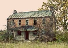 House Rural Landscape Photography Fine Art Photo America Vintage Style 5 x 7 Photograph Print Old Buildings, Abandoned Buildings, Abandoned Places, Abandoned Farm Houses, Old Farm Houses, Haunted Houses, House Photography, Landscape Photography, School Photography