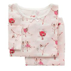 Buy Cath Kids Children's Ballerina Print Jersey Pyjamas, Pink from our Girls' Pyjamas & Nightwear range at John Lewis & Partners. Girls Pajamas, Kids Branding, Cath Kidston, Pull On Pants, Pj Sets, Pyjamas, Pjs, Dress For You, Ballerina