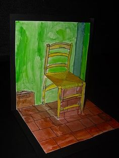 Van Gogh's Chair pop up art