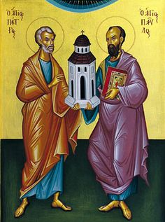 Icon of Saints Peter and Paul. Feast day June 29