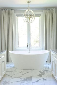 Insane Tricks Can Change Your Life: Wooden Blinds Walnut modern blinds ceilings. Bathroom Window Curtains, Bathroom Blinds, Bathroom Windows, Curtains With Blinds, Blinds For Windows, Drapery Panels, Gray Curtains, Master Bathroom, Master Tub