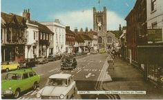 Old-Post-Card-Hart-Street-Henley-on-Thames-Oxfordshire