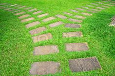 Stock image of 'Garden stone path'