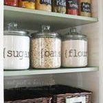 Via Not Just a Housewife: Reusable chalkboard labels like these make it easy to keep track of what's stored in your pantry.