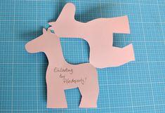Pferde-Einladungen basteln für die Kinderparty Children, Kids, Symbols, Letters, Invitations, Horses, Templates, Birthday, Crafts